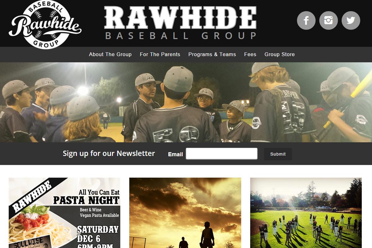 Website Design Baseball Group