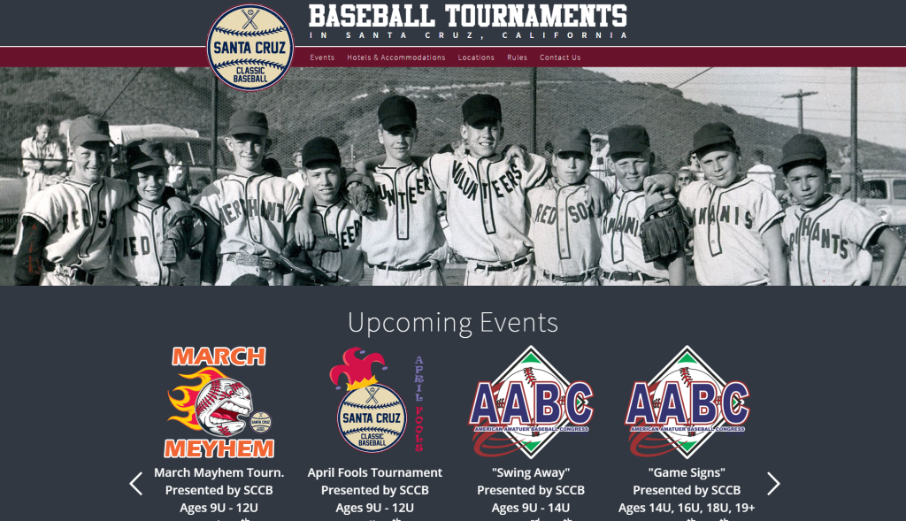 santa cruz baseball tournaments