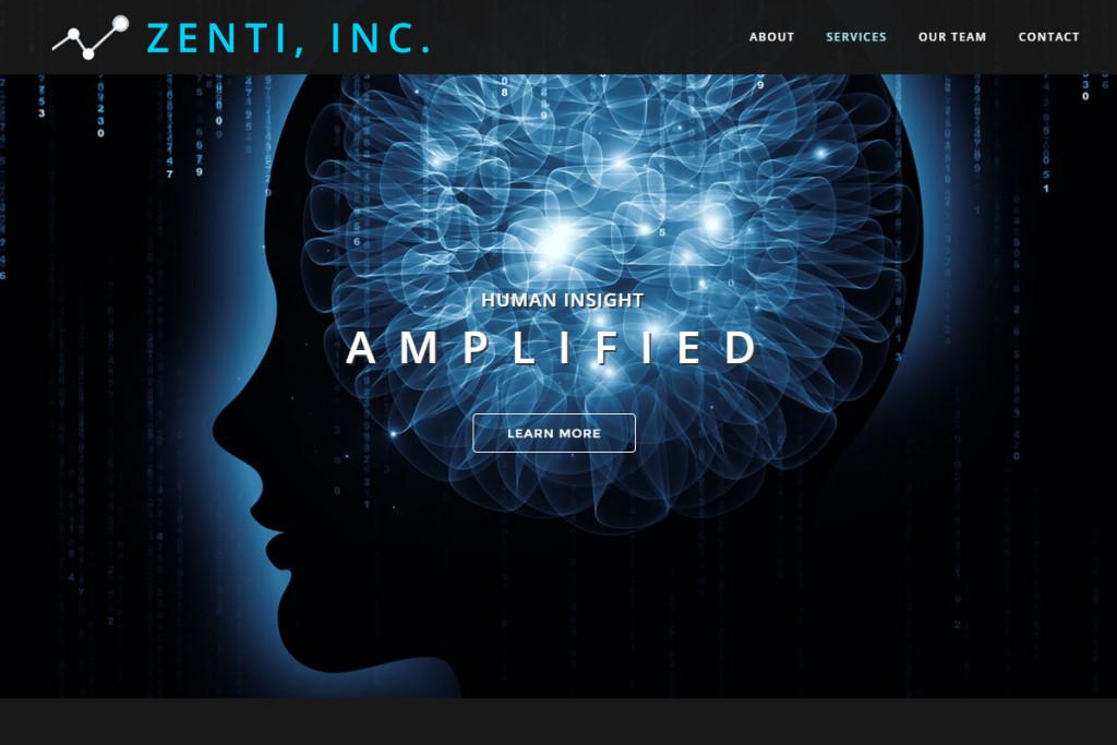 zenti website design
