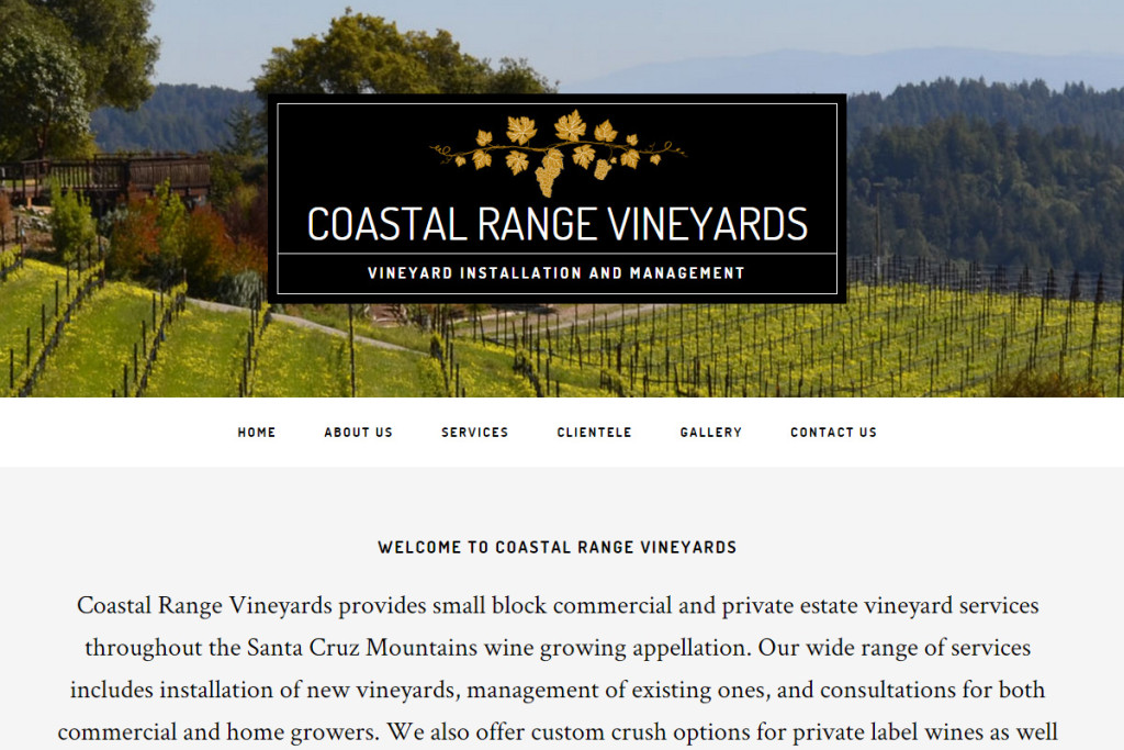 coastal range vineyards